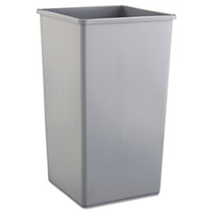 Rubbermaid® Commercial Untouchable Square Waste Receptacle, Plastic, 50 gal, Gray