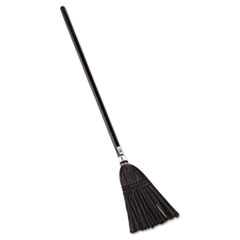 "Rubbermaid® Commercial Lobby Pro Synthetic-Fill Broom, 37 1/2"" Height, Black"