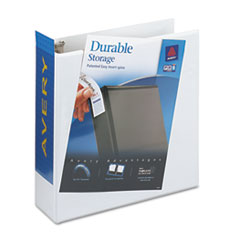 "Durable View Binder with EZD™ Rings, 3"" Capacity, White"