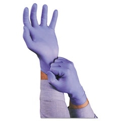 AnsellPro TNT Disposable Nitrile Gloves, Non-powdered, Blue, Medium, 100/Box
