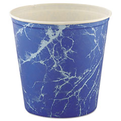 Dart® Double Wrapped Paper Bucket, Waxed, Blue Marble, 165oz, 100/Carton