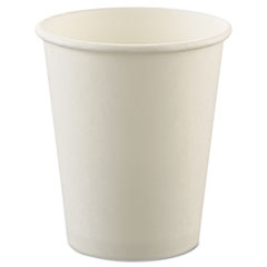 Dart® Uncoated Paper Cups, Hot Drink, 8oz, White, 1000/Carton