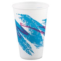 Dart® Jazz Waxed Paper Cold Cups, 12 oz, Tide Design, 2,000/Carton