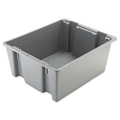 "Rubbermaid® Commercial Palletote Box, 19 gal, 23.5"" x 19.5"" x 10"", Gray"