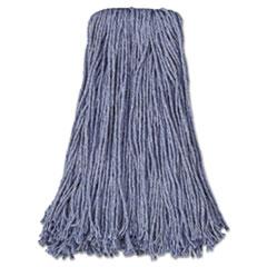 Boardwalk® Mop Head, Standard Head, Cotton/Synthetic Fiber, Cut-End, #24, Blue, 12/Carton