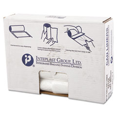 "Inteplast Group High-Density Commercial Can Liners Value Pack, 30 gal, 11 microns, 30"" x 36"", Clear, 500/Carton"
