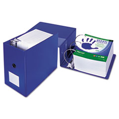 """Samsill® Clean Touch Locking D-Ring Reference Binder, Antimicrobial, 6"""" Cap, Blue"""