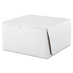 SCT® Tuck-Top Bakery Boxes, 10 x 10 x 5.5, White, 100/Carton