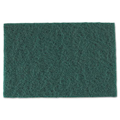 AmerCareRoyal® Medium-Duty Scouring Pad, 6 x 9, Green, 60/Carton