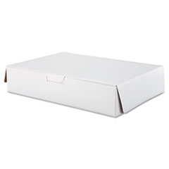 SCT® Tuck-Top Bakery Boxes, 19 x 14 x 4, White, 50/Carton