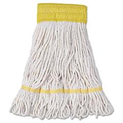 "Boardwalk® Super Loop Wet Mop Head, Cotton/Synthetic Fiber, 5"" Headband, Small Size, White, 12/Carton"