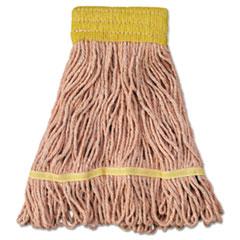 "Boardwalk® Super Loop Wet Mop Head, Cotton/Synthetic Fiber, 5"" Headband, Small Size, Orange, 12/Carton"