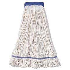 "Boardwalk® Super Loop Wet Mop Head, Cotton/Synthetic Fiber, 5"" Headband, X-Large Size, White, 12/Carton"