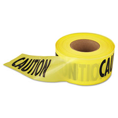 "Empire ""Caution"" Barricade Tape, 3"" x 1,000 ft., Yellow/Black"