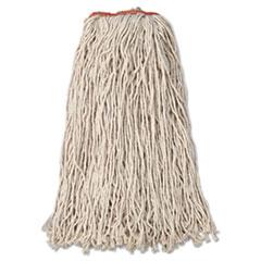 Rubbermaid® Commercial Premium Eight-Ply Cut-End Cotton Wet Mop Head, 24oz, White, 12/Carton