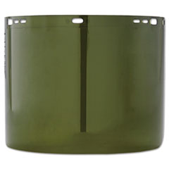 """Jackson Safety* Face Shield Window, 15 1/2"""" x 8"""", Polycarbonate, Green, Unbound"""