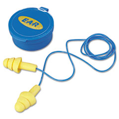 3M™ E·A·R UltraFit Multi-Use Earplugs, Corded, 25NRR, Yellow/Blue, 50 Pairs
