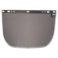 Jackson Safety* F60 Face Shield Window, 15 1/2 x 9, Steel, Black, Aluminum Bound