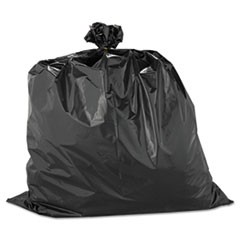 "Warp's® Heavyweight Contractor Bags, 33 gal, 2.5 mil, 33"" x 40"", Black"