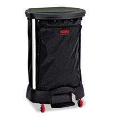 Rubbermaid® Commercial Premium Step-On Linen Hamper Bag, 30 gal, 13.38w x 19.88d x 29.25h, Nylon, Black