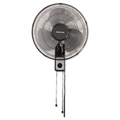 "Holmes® 16"" Wall Mount Fan, 3-Speed, Metal, Black"