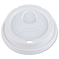 Dixie® Dome Drink-Thru Lids, Fits 10, 12, 16oz Paper Hot Cups, White, 1000/Carton