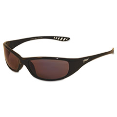 Jackson Safety* V40 HellRaiser Safety Glasses, Black Frame, Blue Mirror Lens