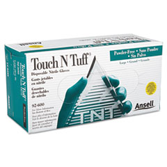 AnsellPro Touch N Tuff Nitrile Gloves, Teal, Size 8 1/2 - 9, 100/Box
