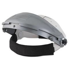 "Fibre-Metal® by Honeywell High Performance Face Shield Assembly, 3"" Crown Ratchet, Noryl, Gray"