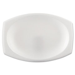 "Dart® Foam Dinnerware, Oval Platter, 6 3/4"" x 9 4/5"", White, 125/Pack, 4 Packs/Carton"
