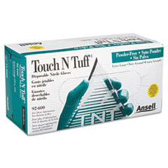 AnsellPro Touch N Tuff Nitrile Gloves, Teal, Size 9 1/2 - 10, 100/Box