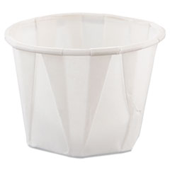 Dart® Paper Portion Cups, 1 oz, White, 250/Bag, 20 Bags/Carton