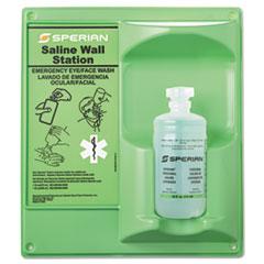 Honeywell Saline Eye Wash Wall Station, 16oz Bottle, 1 Bottle/Station
