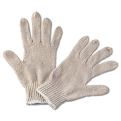Boardwalk® String Knit General Purpose Gloves, Large, Natural, 12 Pairs