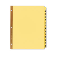 Avery® Preprinted Laminated Tab Dividers w/Gold Reinforced Binding Edge, 25-Tab, Letter