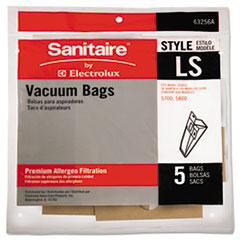 Sanitaire® Commercial Upright Vacuum Cleaner Replacement Bags, Style LS, 5/Pack