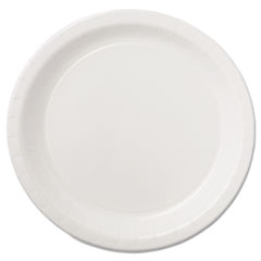 "Hoffmaster® Coated Paper Dinnerware, Plate, 9"", White, 50/Pack, 10 Packs/Carton"