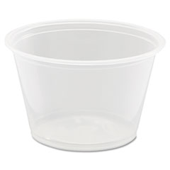 Dart® Conex Complements Portion/Medicine Cups, 4oz, Clear, 125/Bag, 20 Bags/Carton