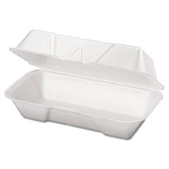 Genpak® Foam Hoagie Container, 8 7/16 x 4 3/16 x 3 1/16, White, 125/Bag, 4 Bags/Carton