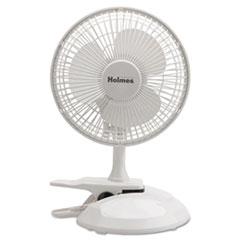 "Holmes® 6"" Convertible Clip/Desk Fan, 2 Speed, White"