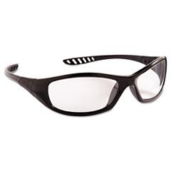 KleenGuard™ V40 HellRaiser Safety Glasses, Black Frame, Clear Anti-Fog Lens