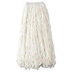"Rubbermaid® Commercial Economy Cut-End Rayon Mop Head, 24oz, 1"" Band, White, 12/Carton"