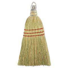 Boardwalk® Whisk Broom, Corn Fiber Bristles, Yellow, 12/Carton