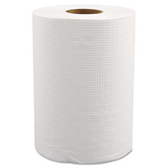"Morcon Paper Hardwound Roll Towels, 8"" x 350 ft, White, 12 Rolls/Carton"