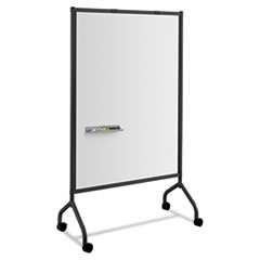 Impromptu Magnetic Whiteboard Collaboration Screen, 42w x 21.5d x 72h, Black/White