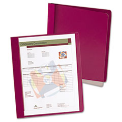 Oxford™ Extra-Wide Clear Front Report Covers, Letter Size, Red, 25/Box