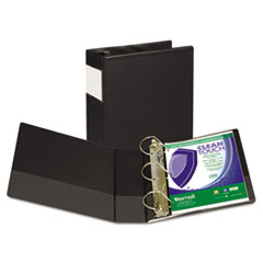 """Samsill® Clean Touch Locking D-Ring Reference Binder, Antimicrobial, 4"""" Cap, Black"""