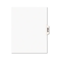 Avery® Avery-Style Legal Exhibit Tab Dividers, Table of Contents, White, 25/Set