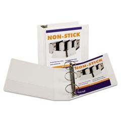 """Samsill® Nonstick Round Ring View Binder, 11 x 8-1/2, 4"""" Capacity, White"""