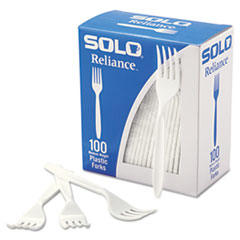 Dart® Boxed Reliance Medium Heavy Weight Cutlery, Fork, White, 1000/Carton